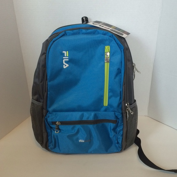 NWT FILA Nexus Backpack Blue Grey Book Tech Laptop