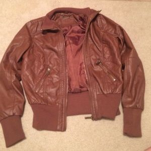 Brown Leather Jacket from Kohl's