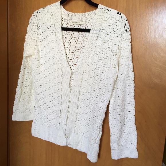 Banana Republic Sweaters Xs White Crochet Cardigan Poshmark