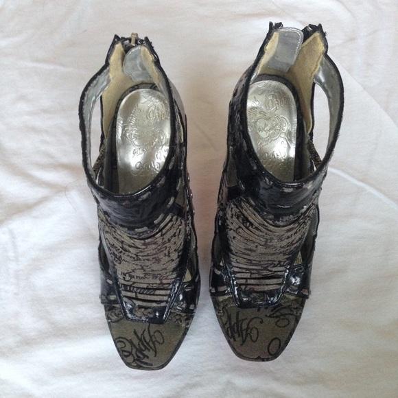 Apple Bottoms Shoes - Apple Bottom Gladiator High Heels Rare