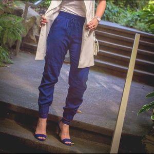 Banana Republic Pants - Banana Republic Cobalt Blue Jogger Pants