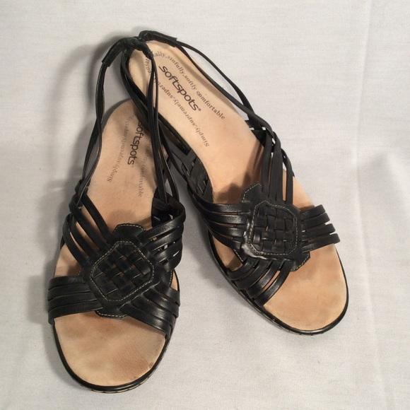 72 soft spots shoes soft spots black leather weave