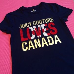 Juicy Couture Tops - 🆕 Juicy Couture Canada Flag Tee - Rare