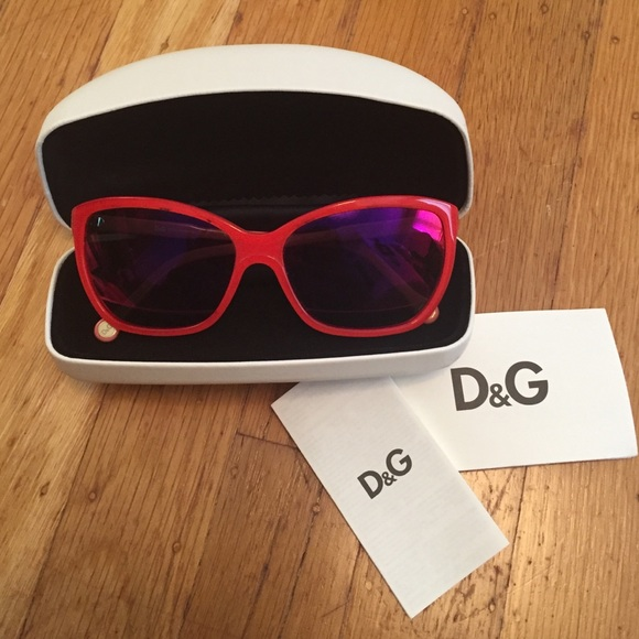 8dcb4cda28de D G Accessories - Hot pink Dolce   Gabbana square cat eye sunglasses
