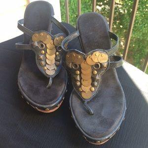 Volatile Shoes - 'Very Volatile' Black Wedge Sz 6