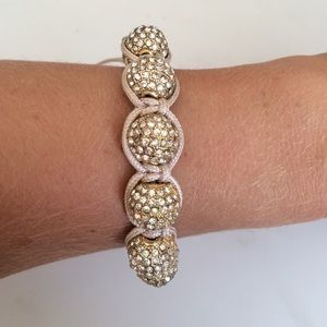 Jewelry - Crystal and gold ball bracelet