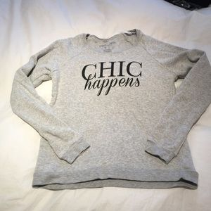 Tops - Chic Happens Sweatshirt in heather grey