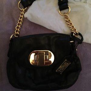 Authentic Badgley Mischka gold chain small handbag