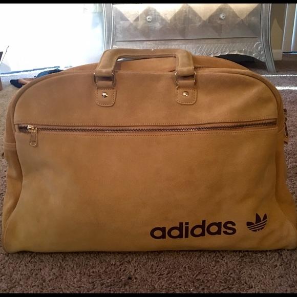 76a896e95a Adidas Handbags - Vintage Adidas Suede Gym Bag