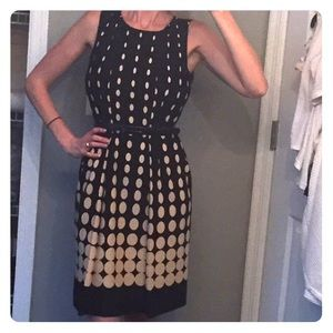 Black and Tan spotted dress. Sz - 2. Worn once!!