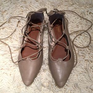 Old Navy Shoes - NEW! Nude lace-up flats size 8