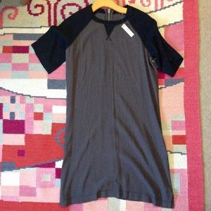 Madewell black gray zip up dress XS