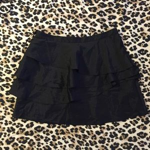 Shiny Flirty Tiered Mini Skirt, urban outfitters