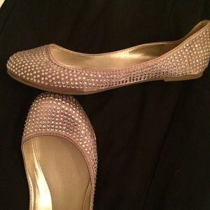 Shoes - Rhinestone ballet flats- never been worn