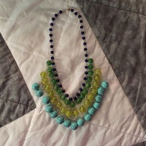 Jewelry - Beaded turquoise statement necklace