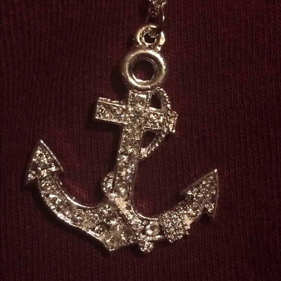 50 off forever 21 jewelry anchor necklace from maeve 39 s