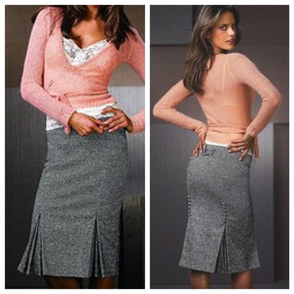 9929043753 Victoria's Secret Skirts | Body By Victoria Tweed Pencil Skirt ...