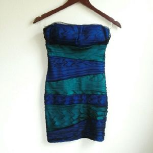 Lipstick Dresses & Skirts - Blue/Green Bodycon