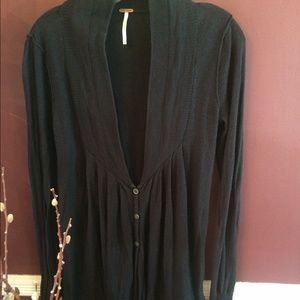 Free People Black Cardigan