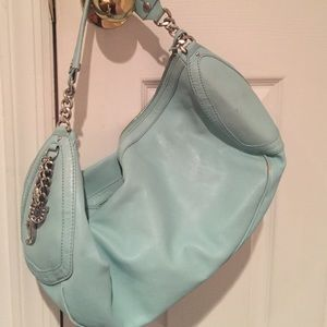 Turquoise leather Juicy Couture bag