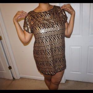 Black/Gold Sequin H&M Party Dress Size Large