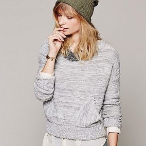 """Free People Gray """"In My Pocket"""" Sweater"""
