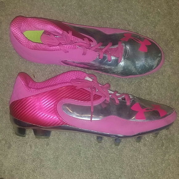Under Armour Cleats Cam Newton Pink