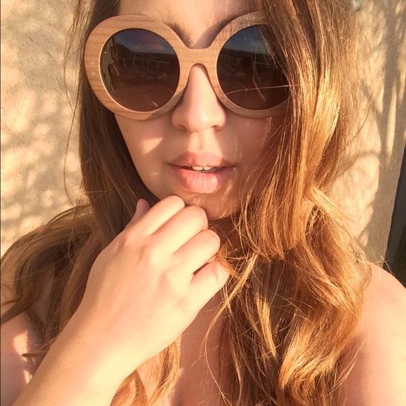 Wooden Frame Prada Sunglasses