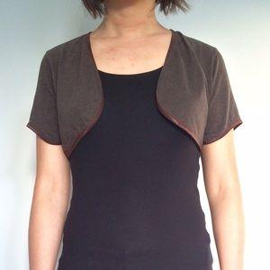 Independent Designer Sweaters - Curved Hem Cropped Cardigan Shrug ♻️ 🇺🇸