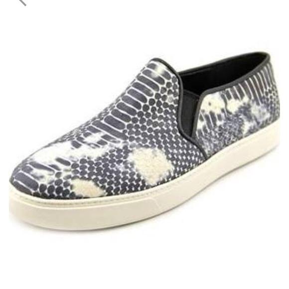 Womens Shoes Cole Haan Bowie Slipon Sneaker Black/Vanilla Snake Print