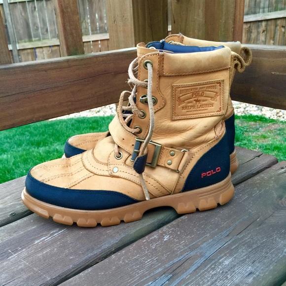 e6a5cc10ea7 MENS Polo Ralph Lauren Tenard Leather Boots