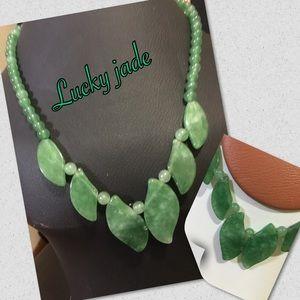 jade stone handmade necklace