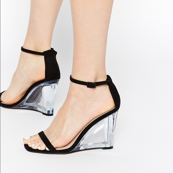 ecd7d1513f0 ASOS Shoes - ❌for  otodo❌ASOS clear block sandal heels wedges