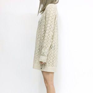 Oneteaspoon Horse Shoe Sweater Dress in Bone