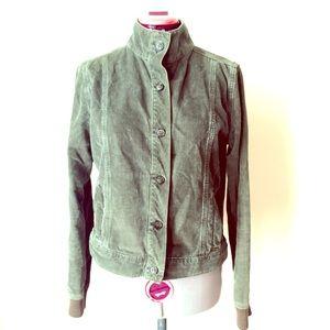 Halogen Jackets & Blazers - Army Green Corduroy Pocket Buttoned Jacket