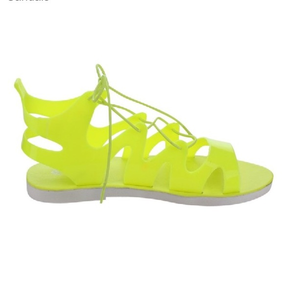 71aae6f0601e ️Neon Yellow Jelly Sandals‼️