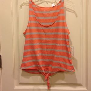 THREADS 4 THOUGHT Tops - NEW WITH TAGS ORANGE STRIPED TANKTOP