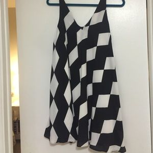 Sam Edelman black and white graphic swing dress