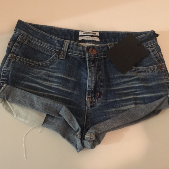 One Teaspoon Shorts - One Teaspoon Vintage Darkies Bandit 26 NWT