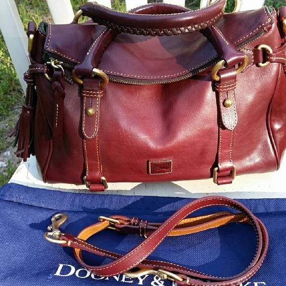 171cc0746a9 Dooney   Bourke Bags   Dooney Bourke Florentine Satchel In Crimson ...