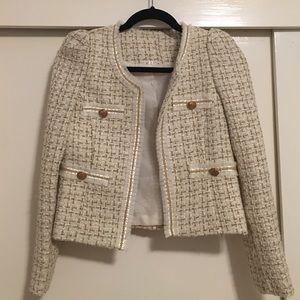how to wear chanel tweed jacket