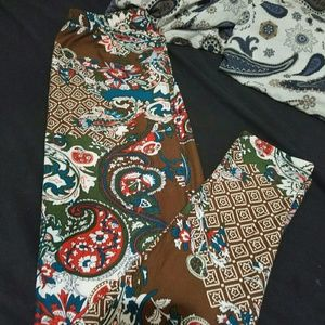 Multi color leggings *paisley *