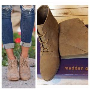 Steve Madden Shoes - Madden Girl Domain tan wedge