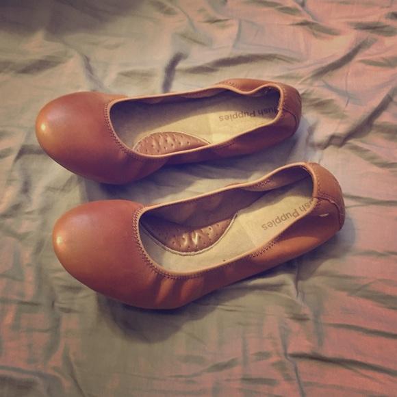 7d8ff149acf Hush Puppies Chaste Ballet Flat Cognac