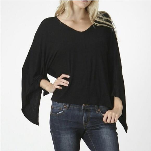 e6ba2d8b097d12 🆕Bellino Clothing Black Asymmetrical Dolman Top🆕