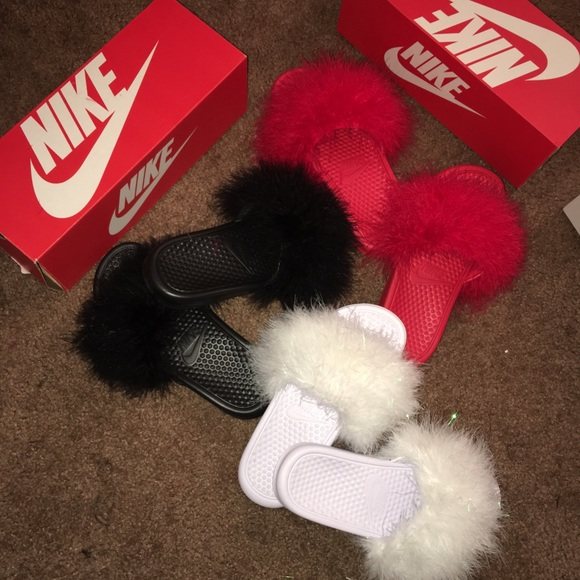 Nike Shoes  Custom Fur Flip Flops  Poshmark-5848