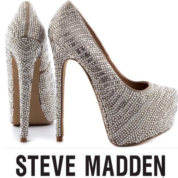 Steve Madden Dyvinal Jeweled 6 Inch Platform Heel.  M 57028cdd2ba50a84860e6579