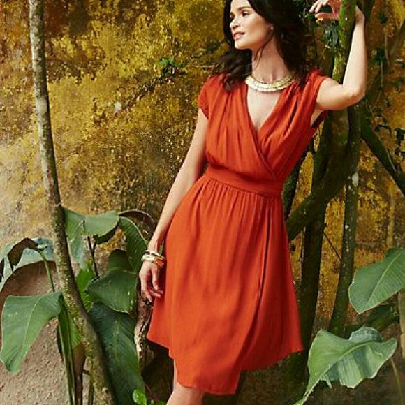 d87be8182355 Anthropologie Dresses | Maeve Noronha Wrap Dress Nwt | Poshmark