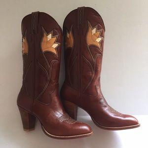 Dan Post Shoes - Dan Post Women's Tulip Inlay Cowgirl Boots