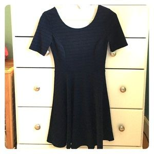 UO black and navy blue stripped dress